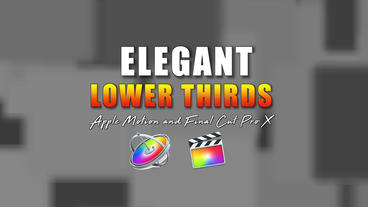Elegant Lower Thirds Apple Motion Template