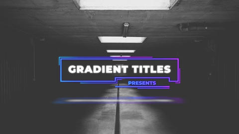 Gradient Titles After Effects Template