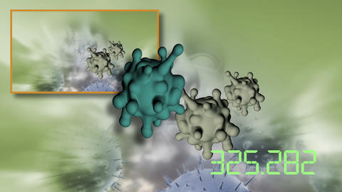 3d animation of cancer cell on cancer image background Live Action