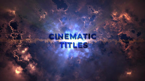 Cinematic Titles Heavens Motion Graphics Template