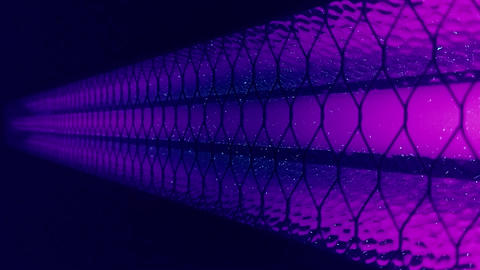 Disinfection equipment ultraviolet close-up. Shot. Abstract conceptual video of Live Action