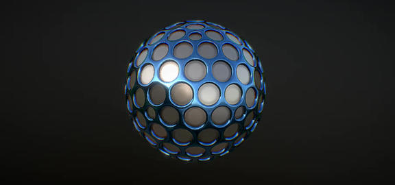 abstract Blue 3D Model