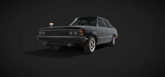 Sedan 1983 low poly model 3D Model