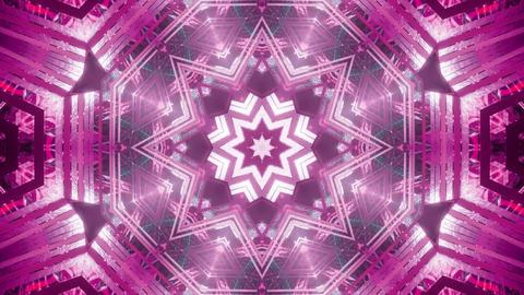 cool abstract science fiction star kalaidoscope mandala visual vj loop - the Animation