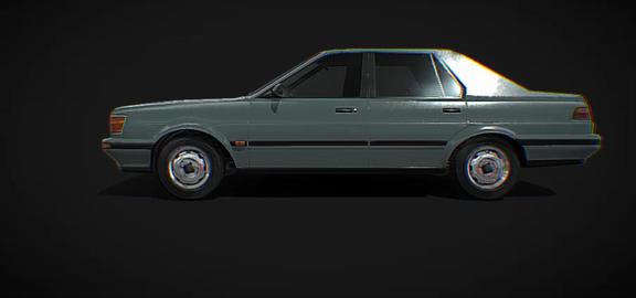 Nissan Generic 1986 low poly model 3D Model