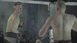 Fighters fighting each other . MMA Footage