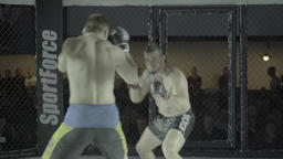 MMA. Fight in the cage Footage