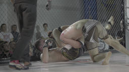 MMA. Fighters fighting each other Footage