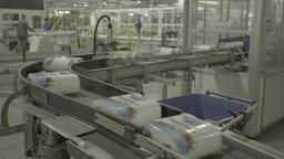 Production at the factory. Conveyor during operation Live Action