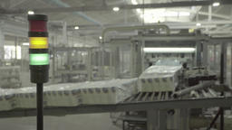 The conveyor operates at the factory Live Action