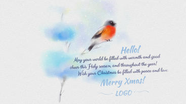 Painted In Watercolor Christmas Card After Effects Template