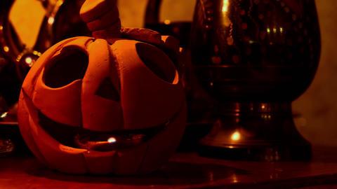 1080p Halloween Pupmkin / Jack-O'-Lantern Filmmaterial