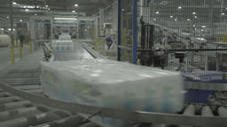 Conveyor products during production in the factory Footage