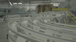 Production at the plant on a conveyor belt Live Action
