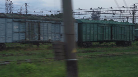 Transport, travel, road, landscape, comnication concept - view from window of Live Action