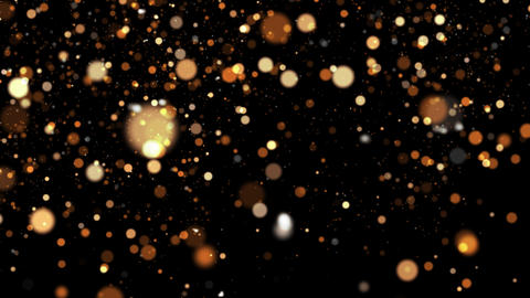 Gold Snowy Particles Animation
