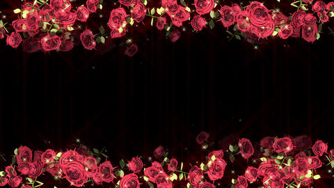 Rose flower particle loop animation Animation