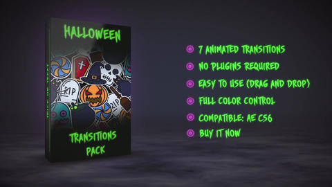 Halloween Transitions After Effects Template