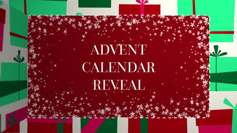 Advent Calendar Number Window Reveal Motion Graphics Template