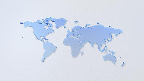 World Map Global USA Europe Asia background A All White Animation
