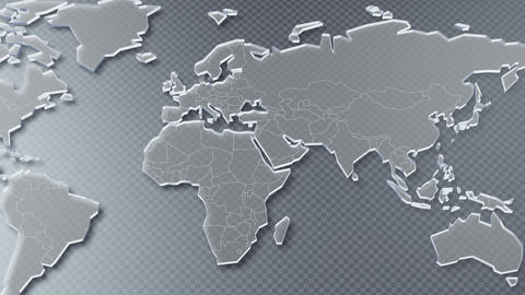 World Map Global USA Europe Asia background A Pan Gray Animation