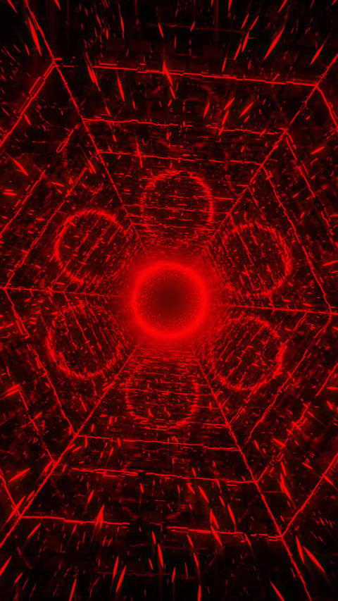 VJ loop Red_002 Animation
