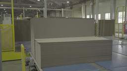 The conveyor at the factory during production Live Action