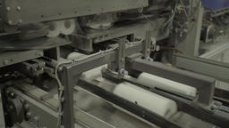 Conveyor during production of paper at the plant Live Action