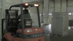 The warehouse in which the loader is moving the weight Footage