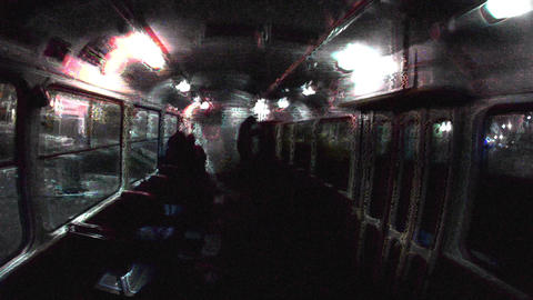 Ghost Tram at night Live Action