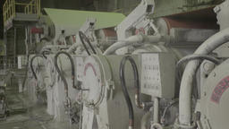 A lot of machines during work in the factory Footage