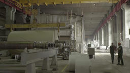 Working in the shop of a large factory (factory) Footage
