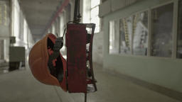 The helmet of a worker in the factory shop Footage