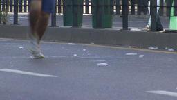 Marathon runners Footage