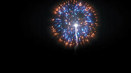 Holiday fireworks display against, Luma Matte attached Footage
