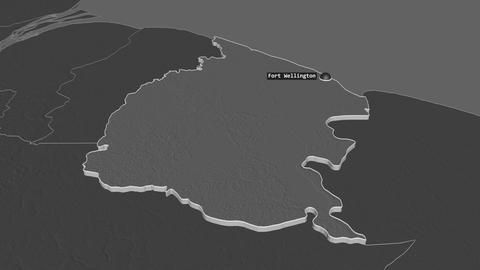 Mahaica-Berbice extruded. Guyana. Stereographic bilevel map Animation