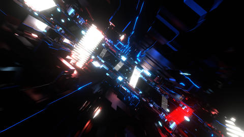 VJ loop bg bga cg DJ bms cyber tunnel Abstract [There is another version] Animation