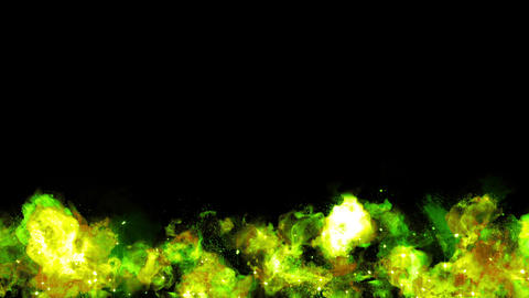 Green explosion fire particle loop animation Animation