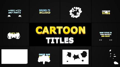 Cartoon Smoke Titles Apple Motion Template