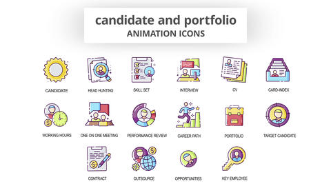 Candidate & Portfolio - Animation Icons After Effects Template