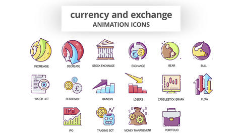 Currency & Exchange - Animation Icons After Effects Template