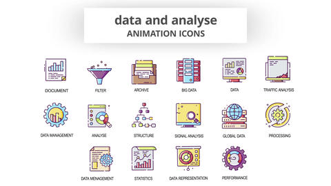 Data & Analyse - Animation Icons After Effects Template