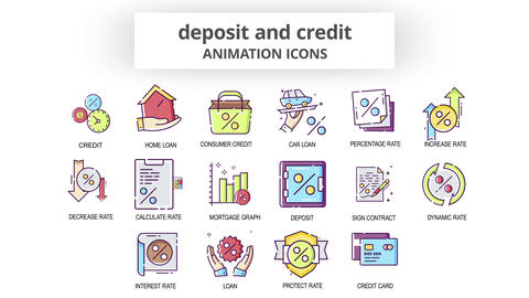 Deposit & Credit - Animation Icons After Effects Template