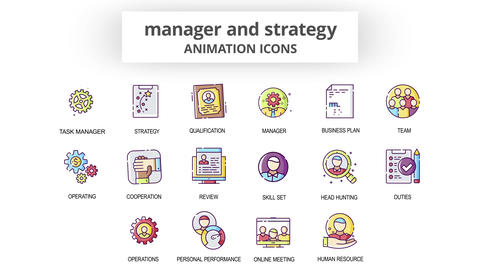 Manager & Strategy - Animation Icons After Effects Template