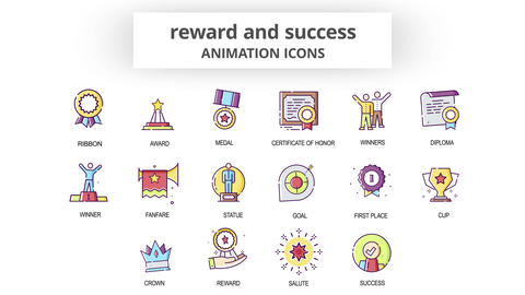 Reward & Success - Animation Icons After Effects Template