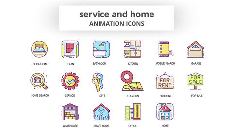 Service & Home - Animation Icons After Effects Template