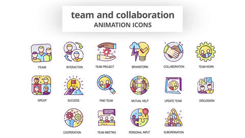 Team & Collaboration - Animation Icons After Effects Template