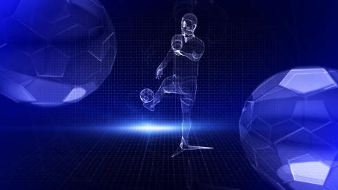 Football sports background Animation