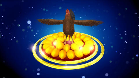 Hen with Golden Egg Animation