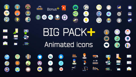 Animated Icons Big Pack After Effects Template
